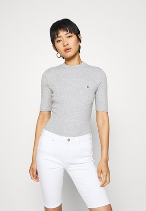 CHARLIE SLIM HIGH - Basic T-shirt - light grey heather