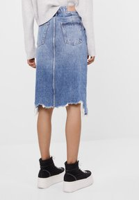 Bershka - A-line skirt - blue denim - 2