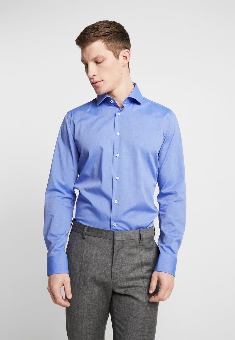 Seidensticker - SLIM FIT SPREAD KENT PATCH - Formal shirt - blue