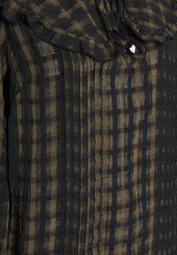 Topshop - CHECK COLLAR - Long sleeved top - khaki - 5