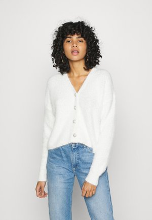 FLUFFY CARDI - Cardigan - off white