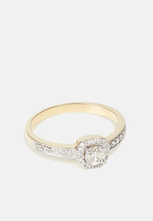 9KT YELLOW GOLD 0.40CT CERTIFIED DIAMOND FASHION RING - Pierścionek - gold