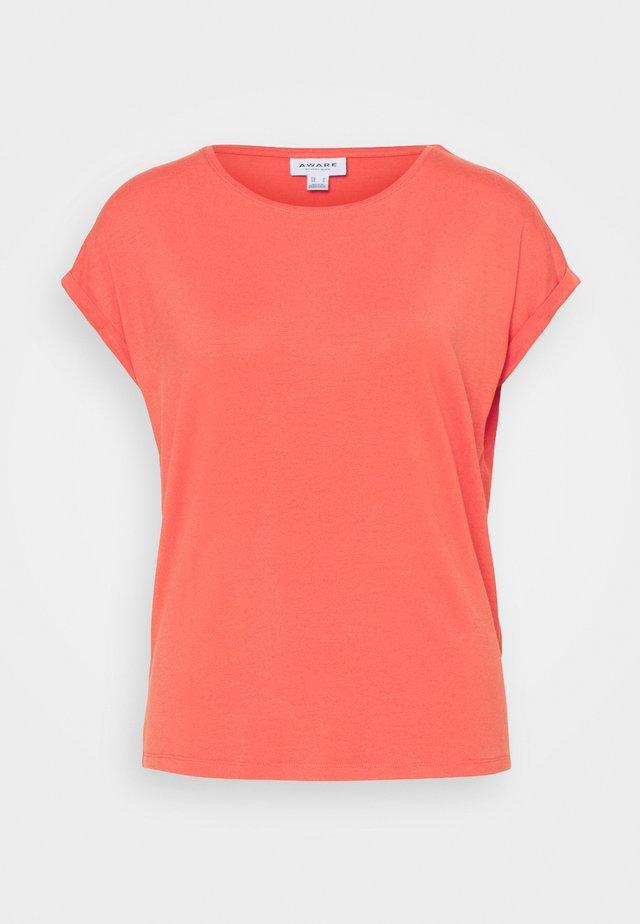 VMAVA PLAIN - Basic T-shirt - spiced coral