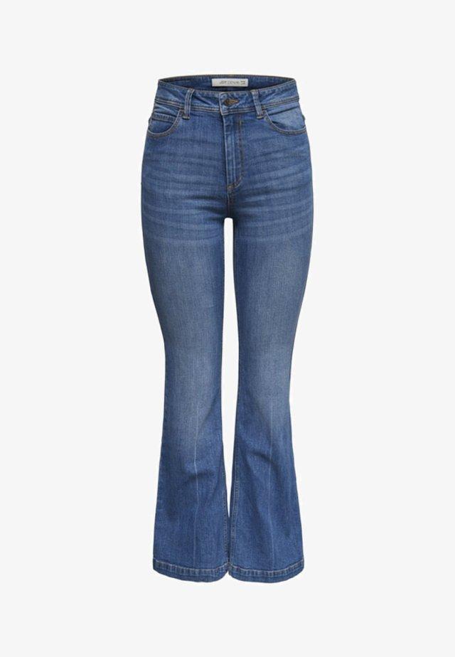 FLORA  - Flared Jeans - medium blue denim