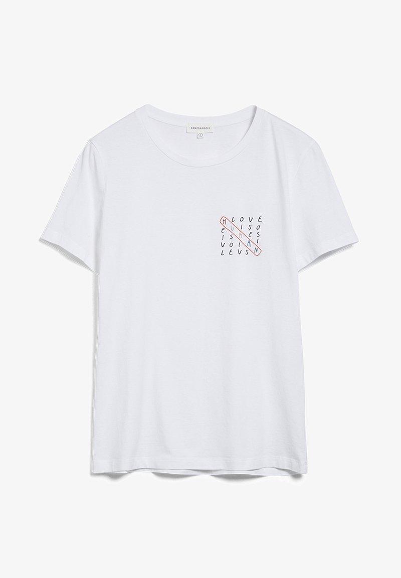 ARMEDANGELS - MARAA HUMAN - Print T-shirt - white