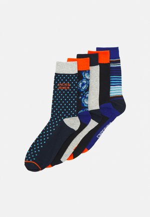 JACBLUEIS SOCK 5 PACK - Chaussettes - black/navy blazer
