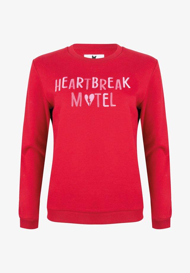 HEARTBREAK MOTEL - Sweater - red