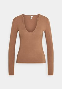 Nly by Nelly - FRONT DETAIL - Long sleeved top - brown - 0