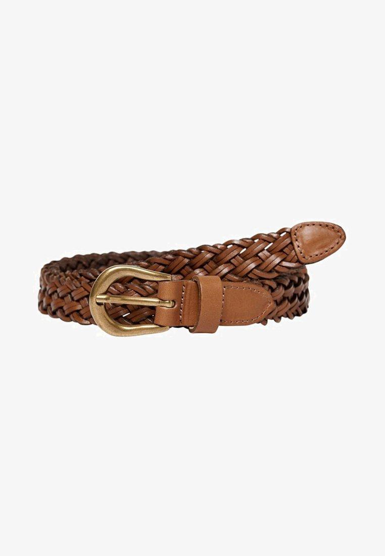 ONLY Carmakoma - Braided belt - cognac