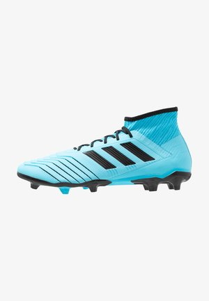 PREDATOR 19.2 FG - Moulded stud football boots - bright cyan/core black/solar yellow