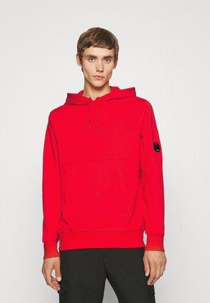 DIAGONAL RAISED HOODED - Sweater - fiery red