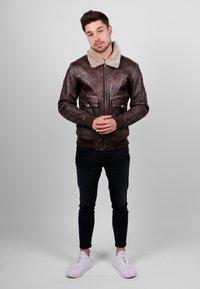Freaky Nation - Leather jacket - dark brown - 1