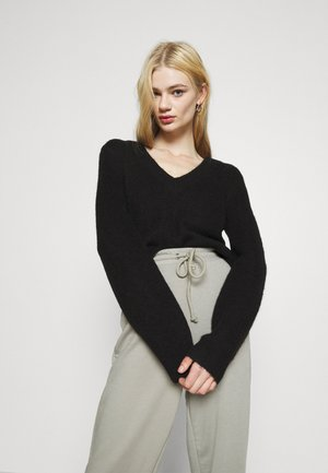 BALLOON SLEEVE - Jumper - black