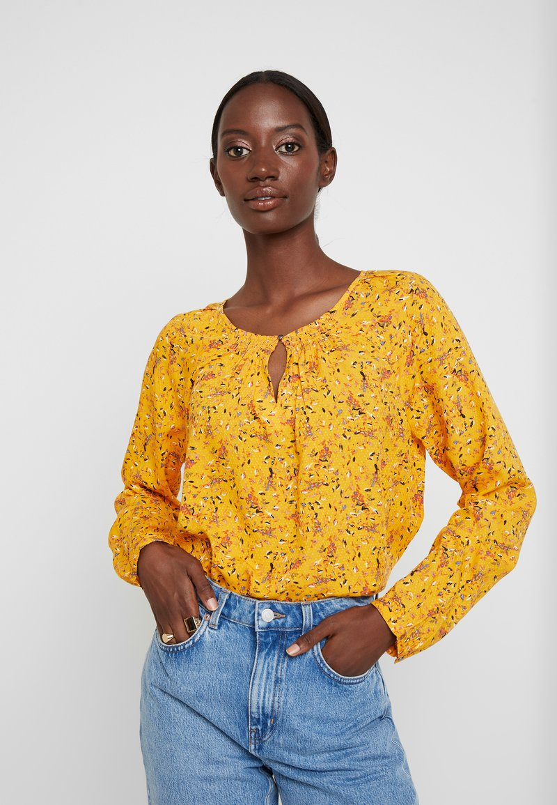 TOM TAILOR - BLOUSE WITH STRUCTURE - Blůza - yellow