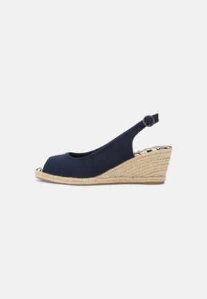 Peep toes - dark blue
