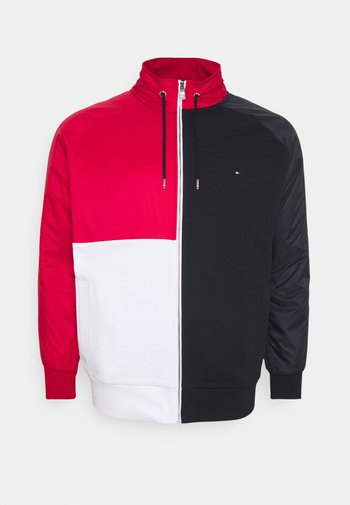 MIX MEDIA COLBLOCK ZIP  - Zip-up sweatshirt - desert sky/primary red/white