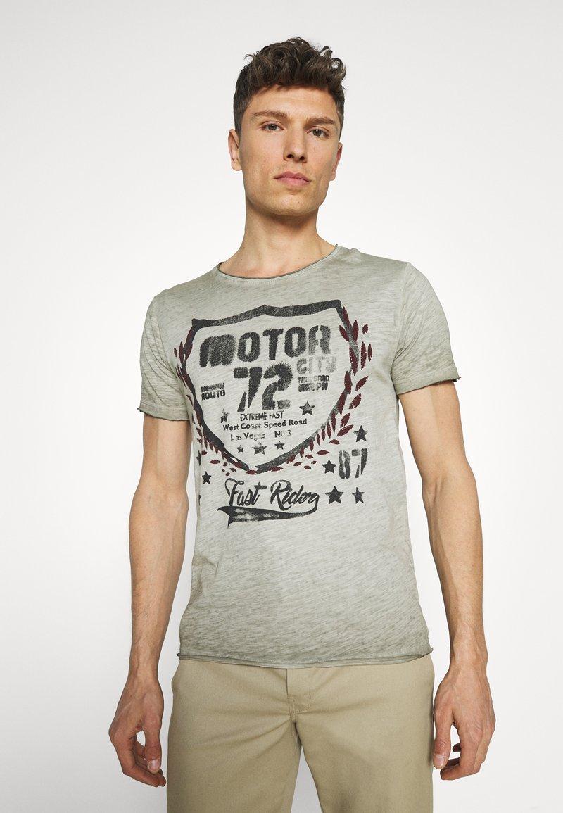 Key Largo - MOTOR CITY ROUND - Print T-shirt - green
