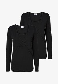 MAMALICIOUS - NURSING 2PACK - Bluzka z długim rękawem - black/black - 4