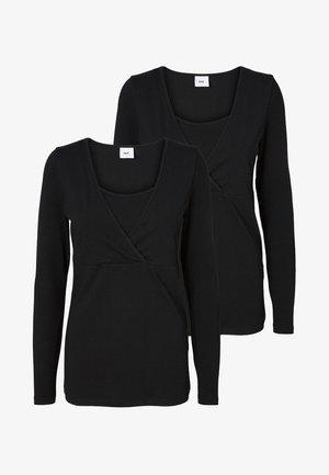 NURSING 2PACK - Pitkähihainen paita - black/black