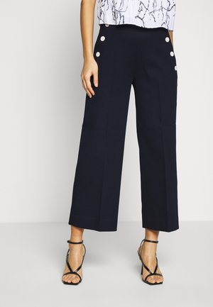 EVERYBDOY WIDE LEG HONEYCOMB MARINER - Trousers - preppy navy