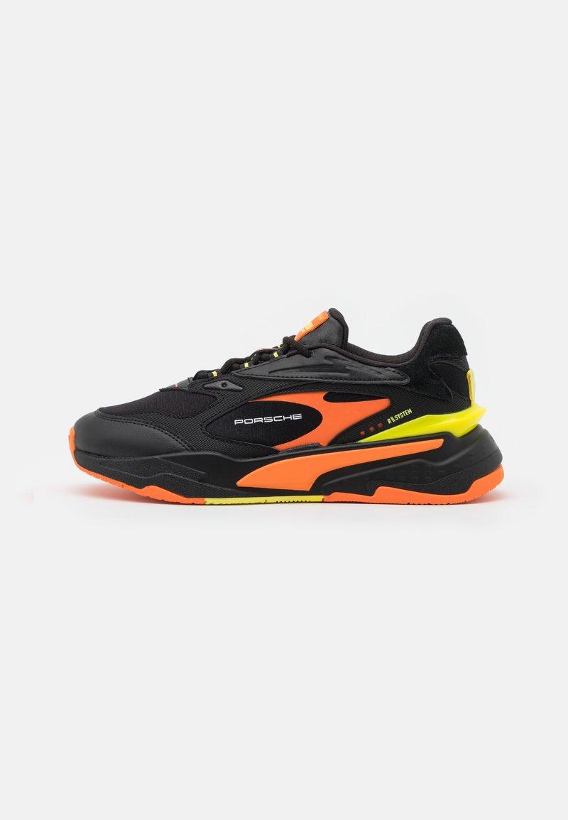 Puma - RS-FAST UNISEX - Trainers - black/celandine/carrot