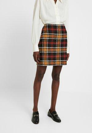 Mini skirt - black/coffee