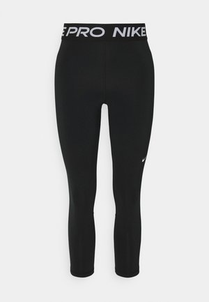 CROP - Leggings - black/white