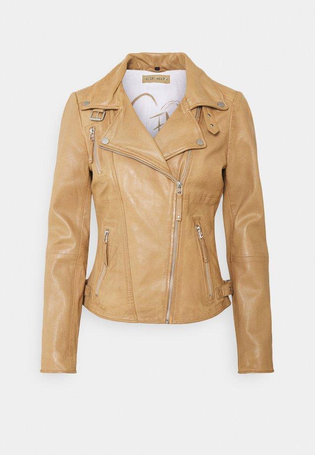 BIKER PRINCESS - Leather jacket - ice coffee