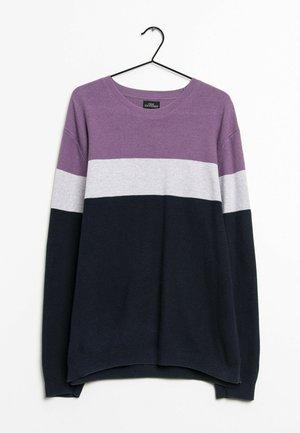 Stickad tröja - blue/purple/white