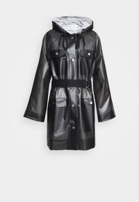 Proenza Schouler White Label - BELTED WITH STRIPED LINING - Parka - dark grey - 12