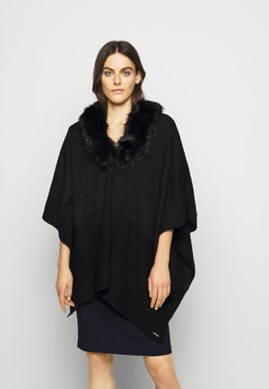RUANA - Cape - black