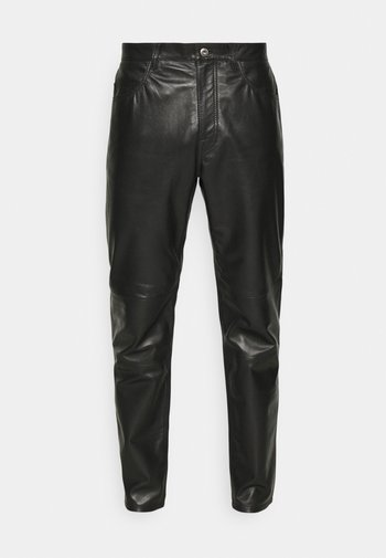 ABNERE  - Kožené kalhoty - black