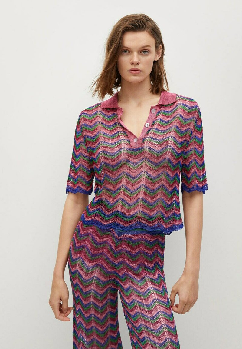 Mango - MIT LOCHMUSTER - Polo shirt - fuchsia