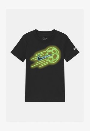 GLOW IN THE DARK SOCKER BALL - T-shirt con stampa - black