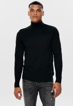 ONSMIKKEL SOFT HIGH NECK - Stickad tröja - black