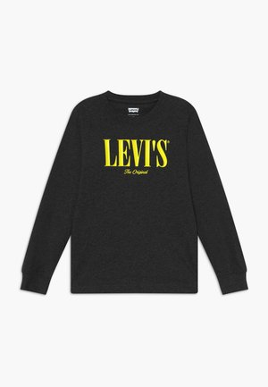 GRAPHIC - Long sleeved top - black heather