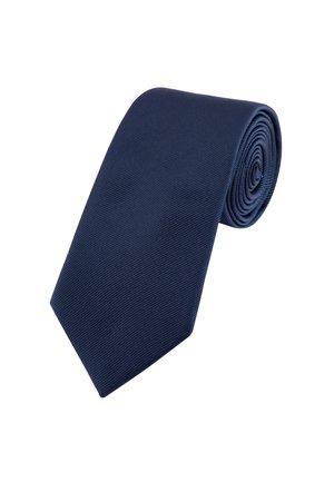 BURGUNDY WIDE  - Tie - blue