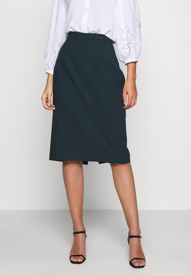 PENCIL SKIRT - Kynähame - bottle green