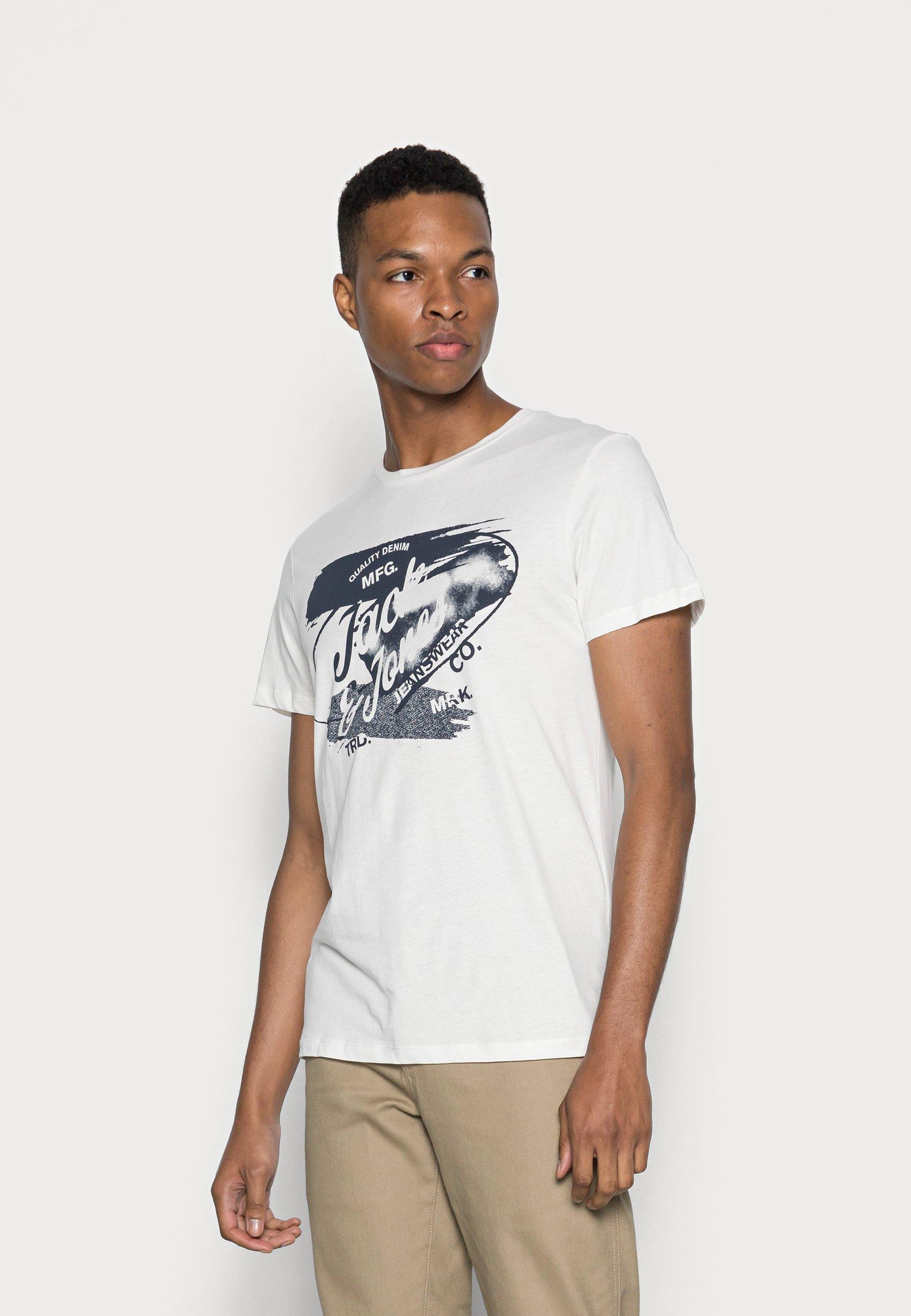 Men JJDENS TEE CREW NECK - Print T-shirt