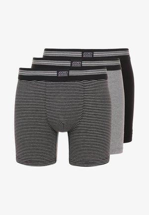 COTTON STRETCH LONG LEG TRUNK 3 PACK - Pants - black/grey