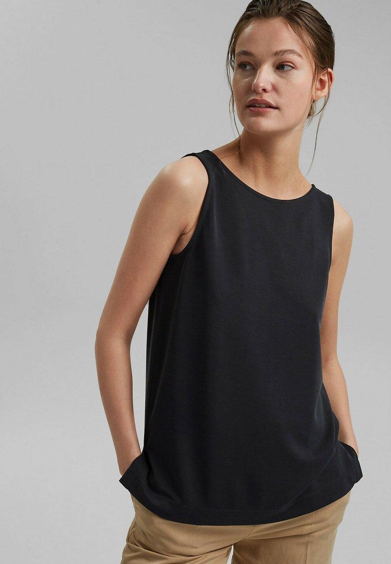 Esprit - MIT MODAL - Blouse - black