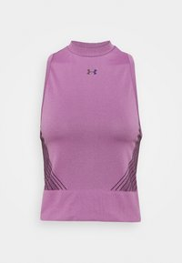Under Armour - RUSH SEAMLESS CROP - Top - polaris purple - 5