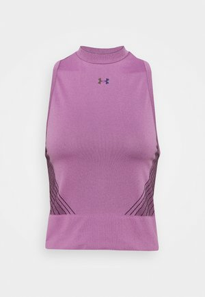 RUSH SEAMLESS CROP - Top - polaris purple