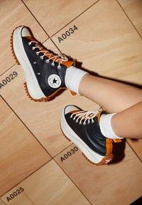 Converse - RUN STAR HIKE - High-top trainers - black/saffron yellow/egret - 2