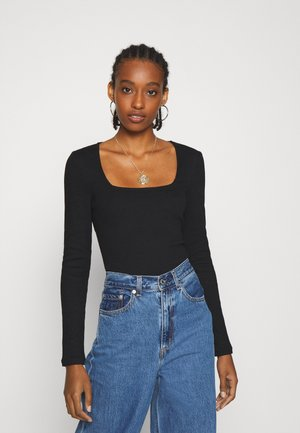 VMNEWAVA SQUARE NECK - Long sleeved top - black