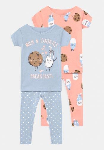 COOKIES 2 PACK - Pyjama set - light blue/light pink