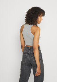 BDG Urban Outfitters - SUPER CROP RACER TANK - Top - grey marl - 2
