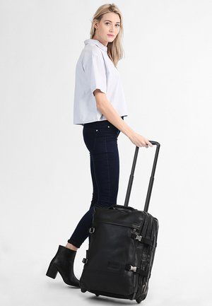 TRANVERZ S LEATHER REISEGEPÄCK - Wheeled suitcase - black ink