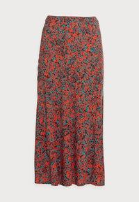 MIDI SKIRT - A-line skirt - red