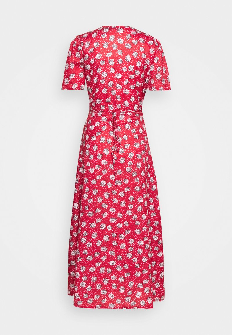 Missguided Tall - HALF BUTTON TEA DRESS - Maxi dress - red